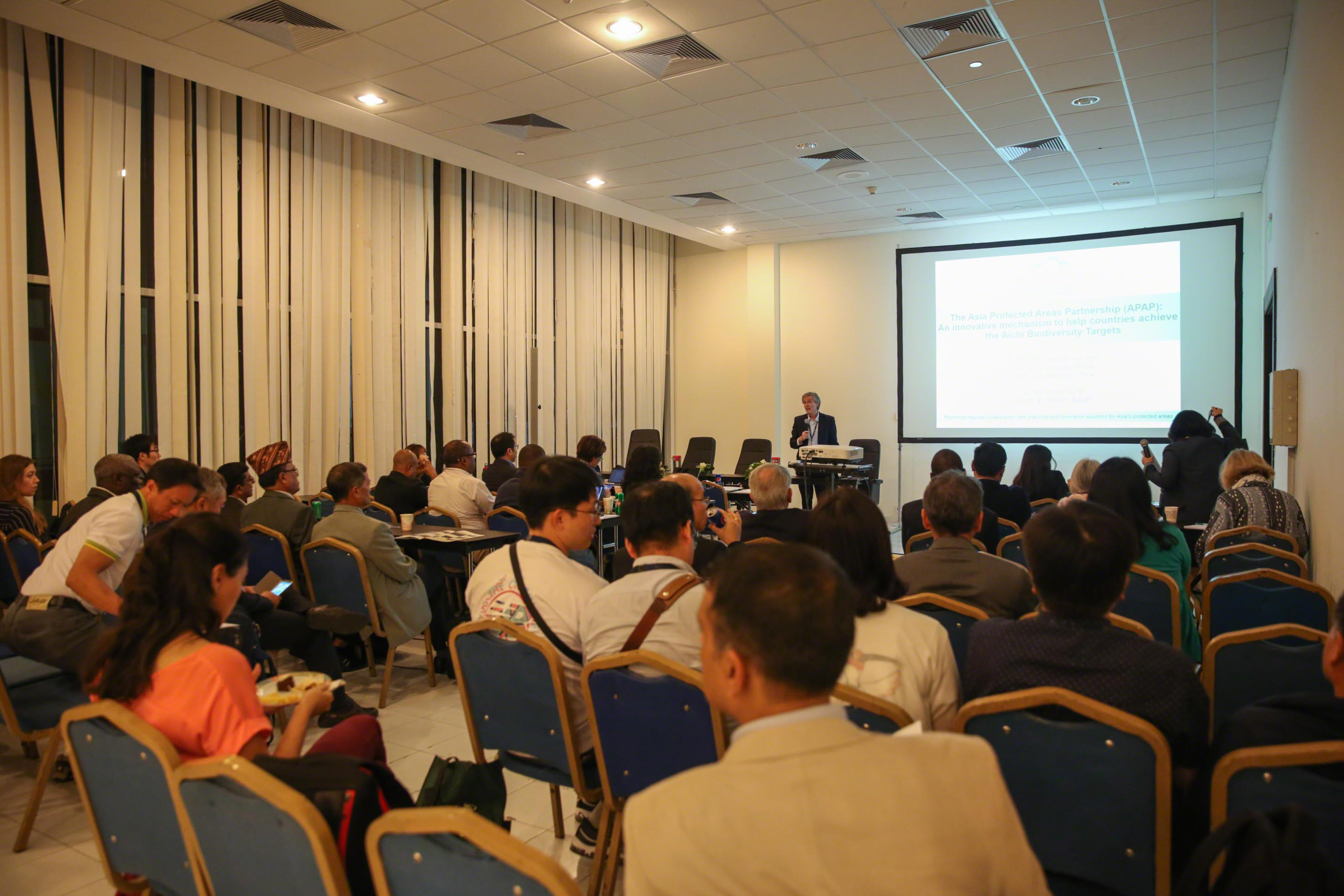 60 people attended the APAP side event at CBD COP14